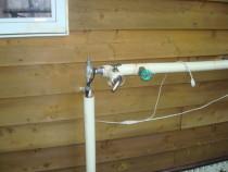 施工前  凍結により水道管部材が破損し漏水が発生