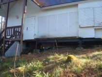 施工中  劣化したベランダを解体して撤去した状況