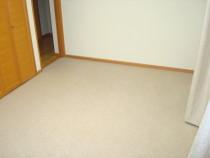 施工前  カーペット敷きの床