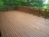 施工後  ベランダ全体を木材保護塗料にて再塗装(2回塗り)