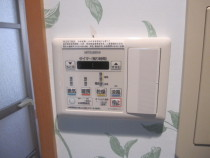 施工中  暖房乾燥換気扇用スイッチへ交換