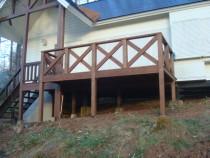 施工後  新規ベランダを木材保護塗料で塗装(2回塗り)して完了