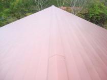 施工後  新規屋根材はガルバリュウム鋼板横葺き